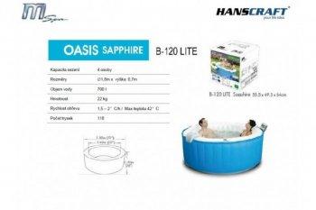 Mobilní vířivá vana MSpa OASIS M-022LS Sapphire