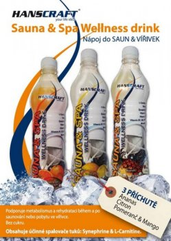SAUNA & SPA wellness drink HANSCRAFT - pomeranč