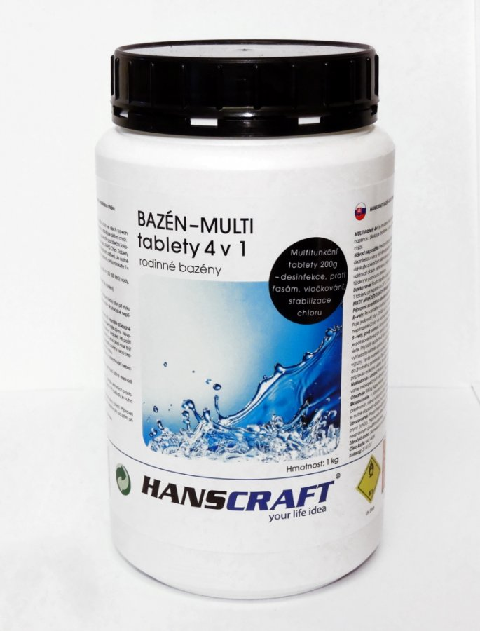 HANSCRAFT BAZÉN - MULTI tablety 4v1 - 1 kg