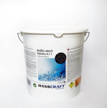 HANSCRAFT BAZÉN - MULTI tablety 4v1 - 2,4 kg