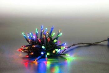 Řetěz světelný 100 LED 5 m - barevná - transparent kabel