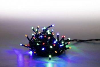Řetěz světelný 200 LED 10 m - barevná