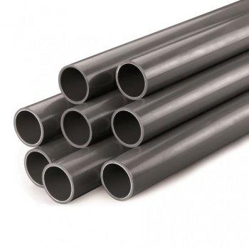 Trubka PVC 125x4,8mm PN 10 šedá (délka trubky 5m)