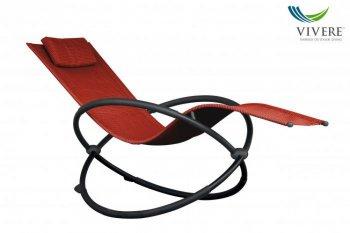 Vivere - Orbital Lounger Single # Cherry Red