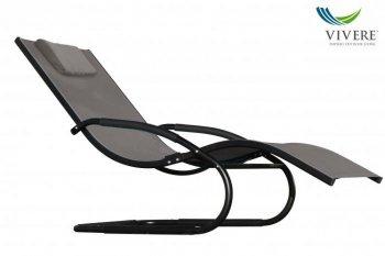 Vivere - Wave Lounger # Black Chrome (with frame)