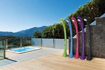 Solární sprcha s oplachem nohou COBRA modrá