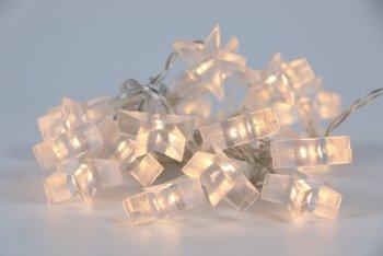 Řetěz hvězdy Bílá 20 LED