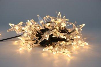 Řetěz Hvězdy Čirá 40 LED